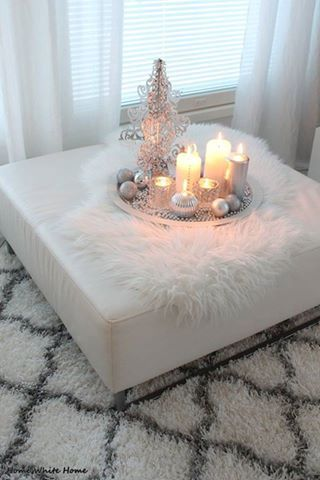 Ottoman decor with a tray and candles