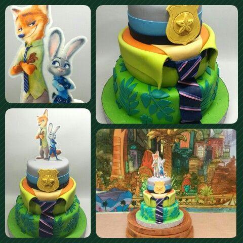 Cake Zootopia #PrityCakes #cakes #fondantart #edibleprint #tortasdecoradas #zootopia #disney