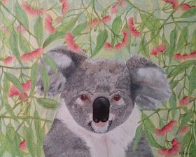 Acrylics on Deep Edge Canvas 40x50cm Koala