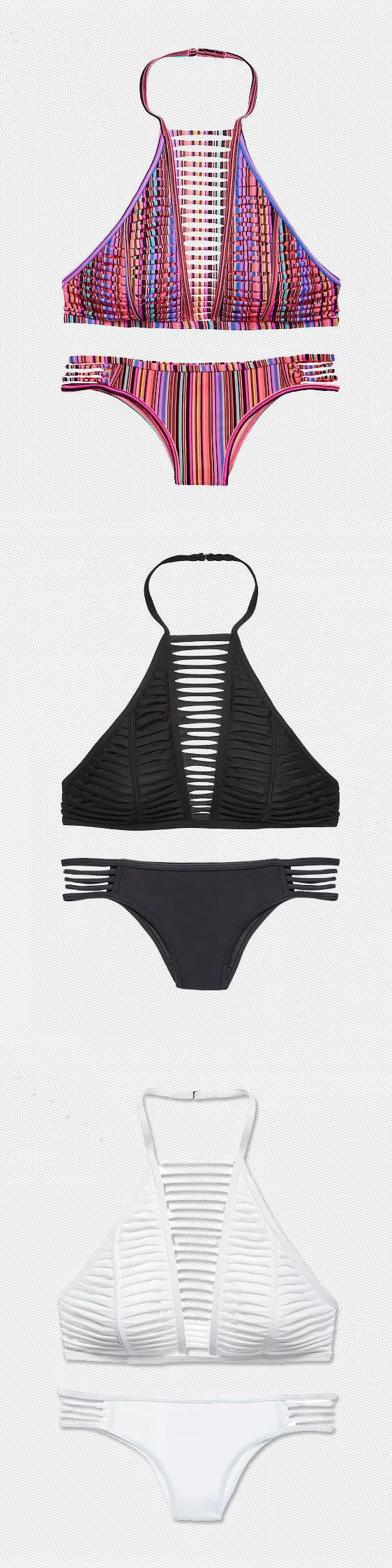 Hollow-out Halter Neck Two-piece Bikini