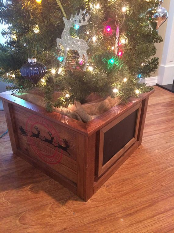 our rustic christmas tree planter box is a great alternative to the traditional christmas tree skirt the tree box is large enough to accommodate the round - Large Christmas Tree Stand