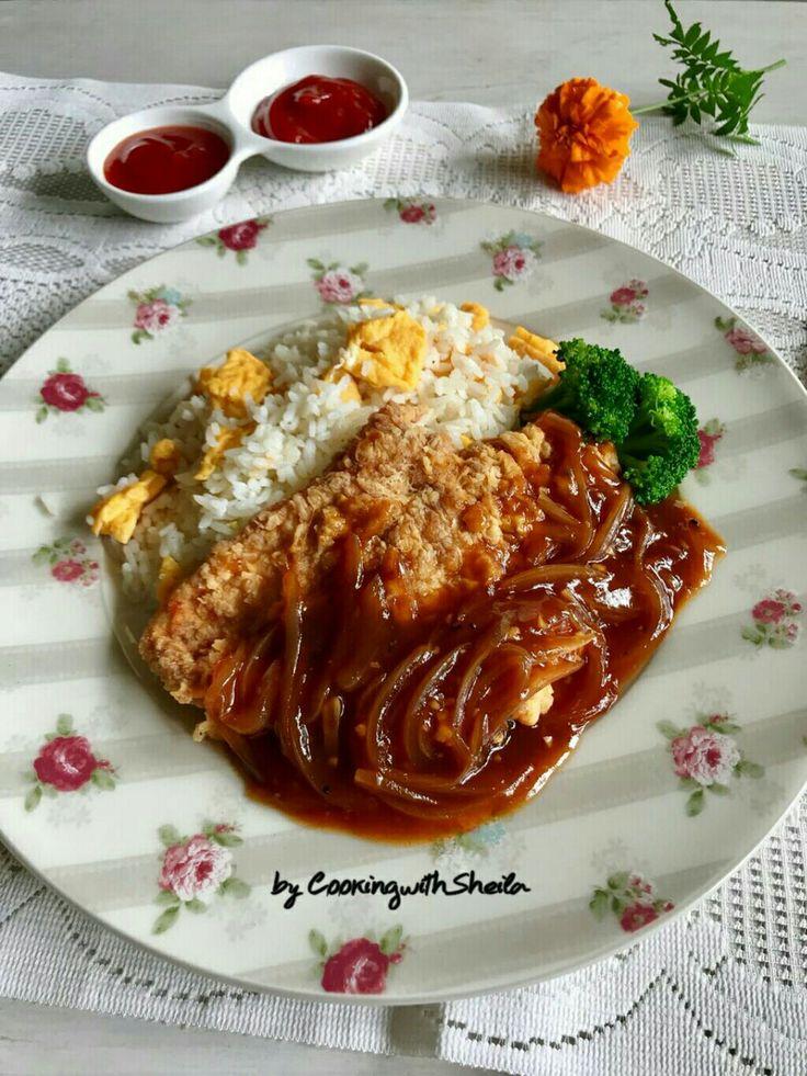 Nasi Bistik Ayam