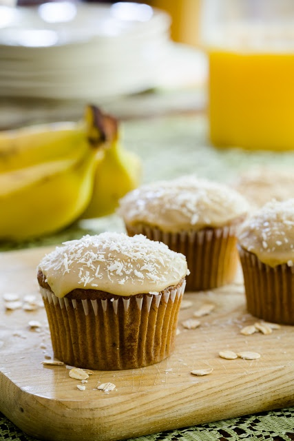 Banana Oat Cupcakes and a Tour of Bob's Red Mill ~ Cupcake Project
