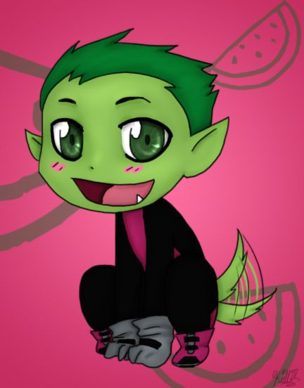 Chibi Beast Boy one of the teen titans