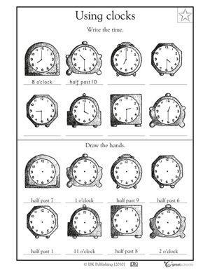 78+ ideas about Clock Worksheets on Pinterest | Telling time ...
