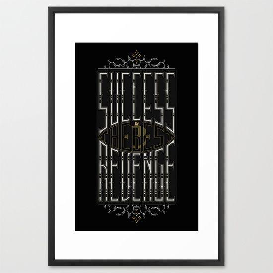Success&Revenge #2 Framed Art Print