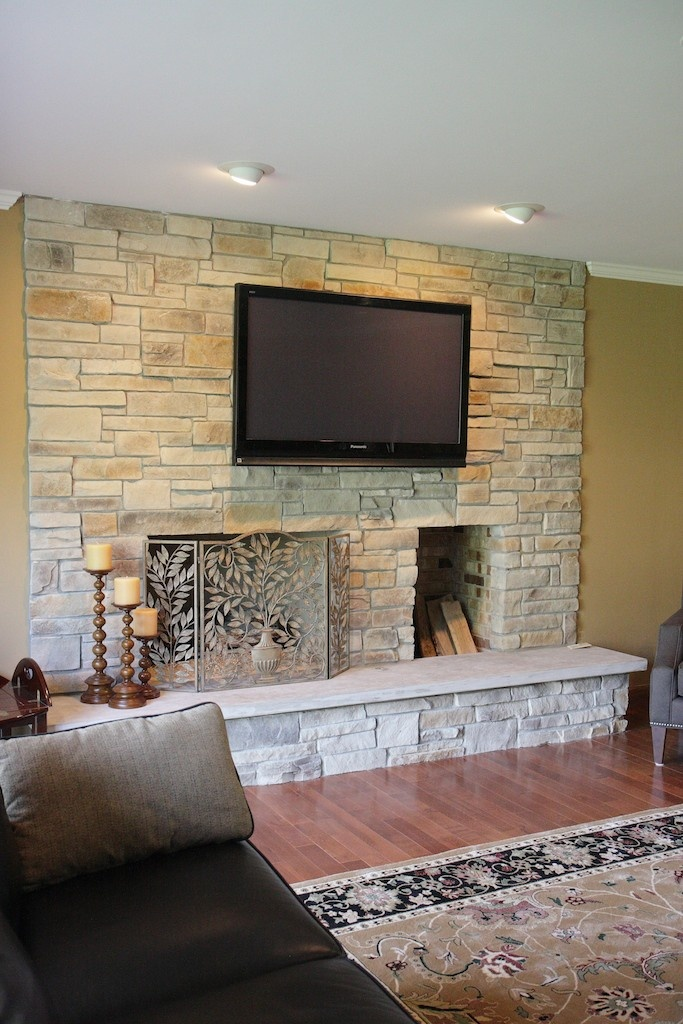 17 best Stone Fireplaces and TVs images on Pinterest Fireplace
