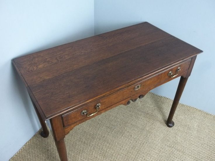 Antique Oak Georgian 18th Century Welsh Lowboy Side Hall Occasional Lamp Dressing Table. C 1760. | 454505 | Sellingantiques.co.uk
