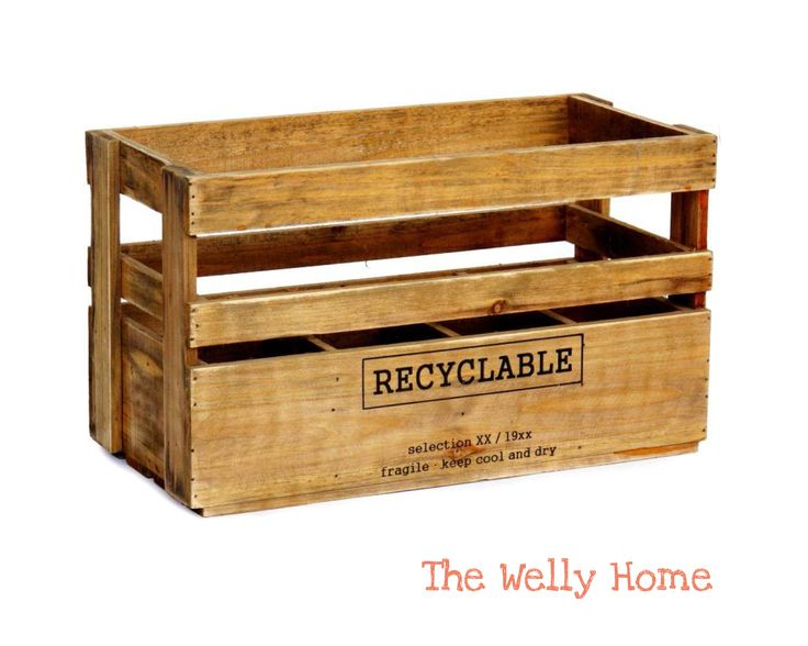 caja botellero recycable de the welly home