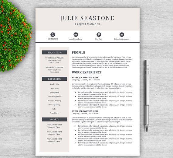 Template De Cv Creatif Pour Word Fr 1 Et 2 Page Resume Etsy Resume Template Word Resume Template Professional Resume Template
