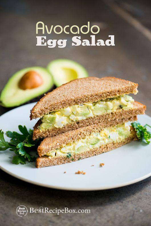 Avocado Egg Salad Recipe   @bestrecipebox