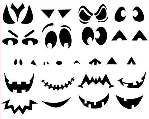 Create Your Own Pumpkin Faces, Halloween, Vinyl Sticker Decal by PersonalizedJewellz on Etsy