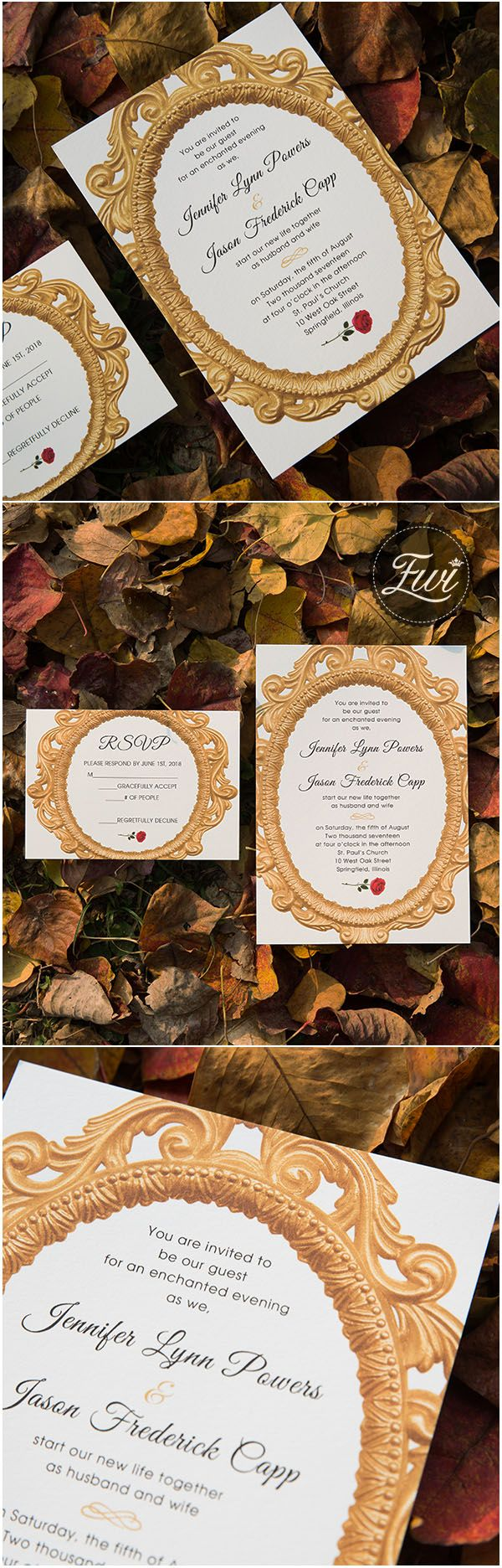 sample wedding invitation letter for uk visa%0A beauty and the beast fairy tale enchanted mirror and red rose wedding  invitations
