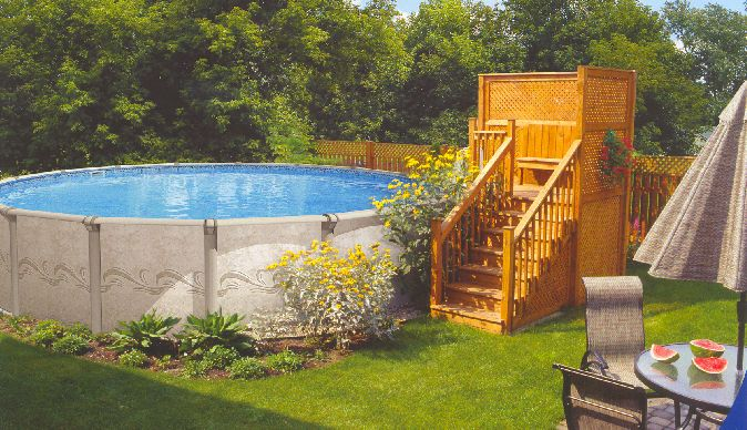 Above ground pool landscaping gallery best beautiful - Beautiful above ground pool ...
