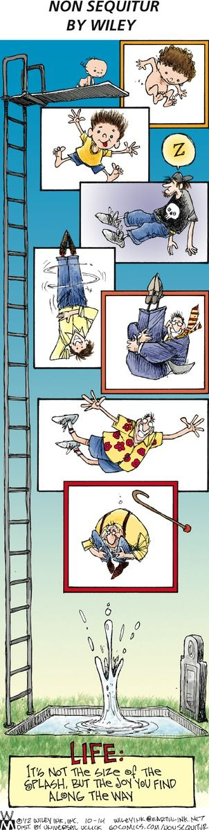 """Life"" cartoon in today's Non Sequitur by Wiley Miller.  Found at washingtonpost.com"