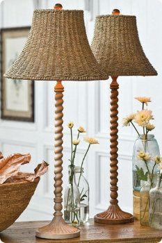 Nantucket twisted table lamps...These would look cute in the back screened in pporch