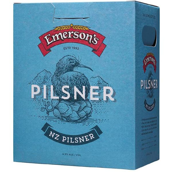 Check out this picture of Emerson Pilsner Carft Beer having oozes citrus and passion fruit aromas. It shows a hint of early malt sweetness available at our online wine shop, Drinkz.  #craftbeer #craftbeeronline #craftbeernz #craftbeerauckland