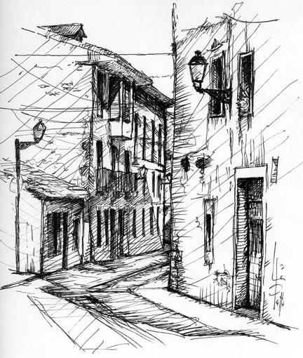 Detalles de una calle de pueblo, Orduña (2006) pablouria.com