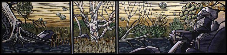 Onkaparinga Gorge by Gail Kellett, 125cm w x 30cm h