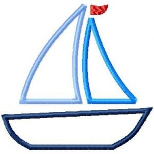 Segelboot applikation  35 besten Sticken Bilder auf Pinterest | Stickmaschinen ...