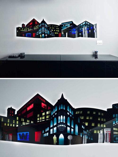 Cut acrylic Wall Art / light