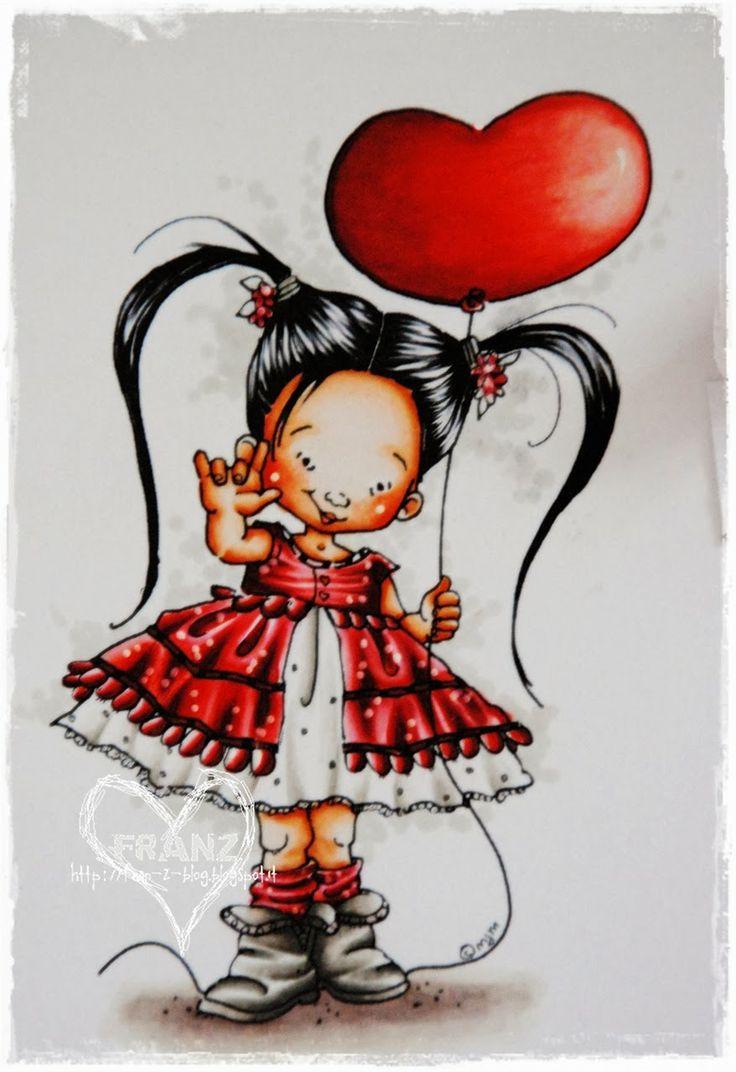 Lovely in Red.   Skin: E0000 - E000 - E00 - E11 +R20 and prismacolor pencil for cheecks;  Hair:  100, C3; Outfit:  Warm Grey: W1, W2, W3;  Red: R17, R27, R29, R59; Floor:  E40, E70, E71, E74