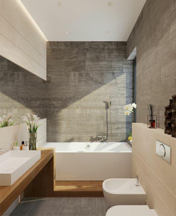 schönes Badezimmer mit toller Wandgestaltung | heimprojekte ...