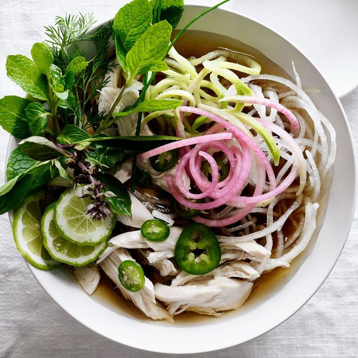 Chicken Pho with Radish and Zucchini Noodles | Williams-Sonoma