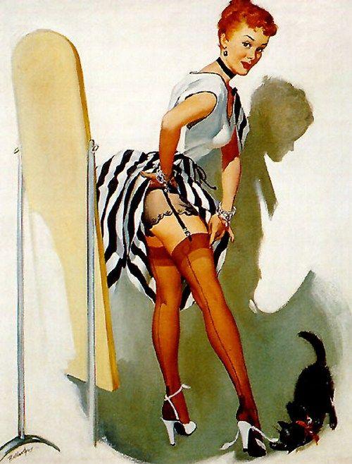 Pin up art by Joyce Ballantyne, 1950s
