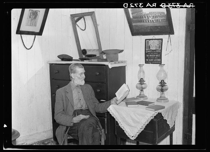 Postmaster Brown at his Old Rag home: