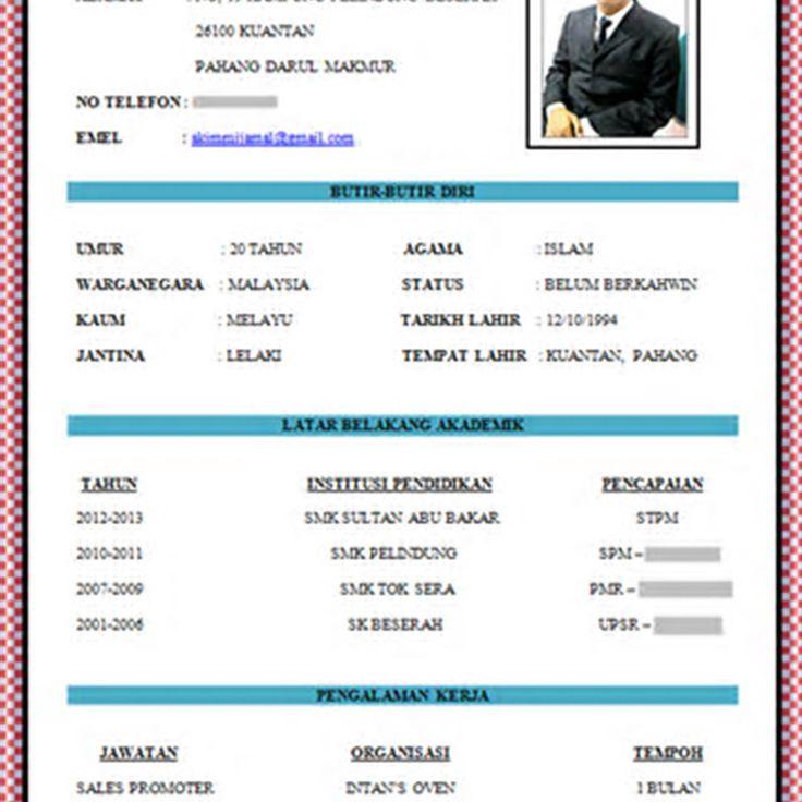 contoh template resume kerja