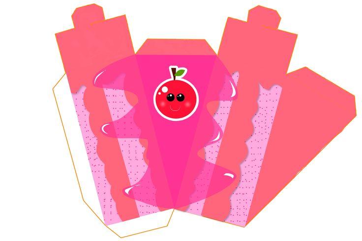 Cherry Free Printable Paper Fruit Cakes Box
