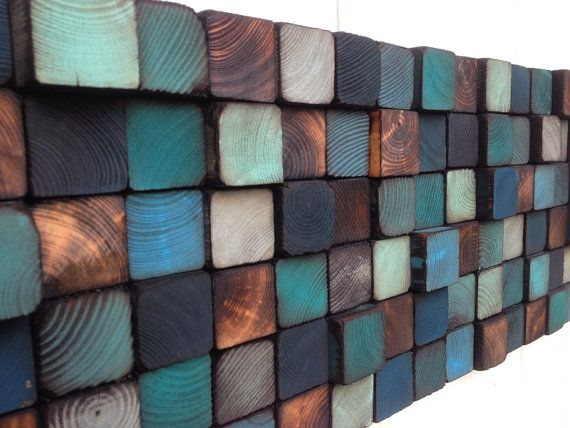 Wood Wall Art  Reclaimed Wood Wall Sculpture by WallWooden | Etsy