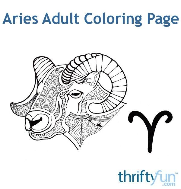 Here is the fifth FREE zodiac adult coloring page ~ Aries, for those born between March 21 and April 19. #coloring #adultcoloring #zodiaccoloring