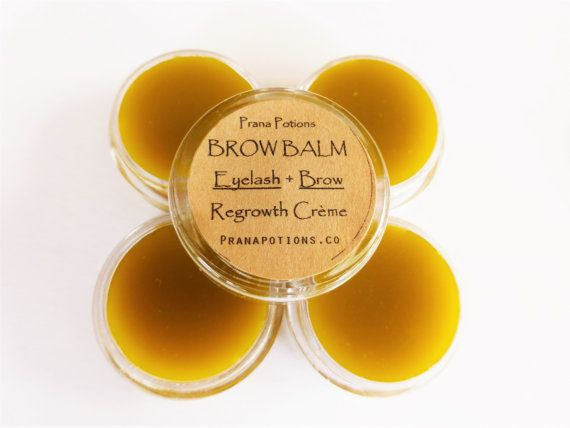 BROW BALM ⁛ Ayurvedic Organic Lash & Brow Growth Treatment Balm + Vegan Herbal Hair Repair Balm • Shea Nut, Gotu Kola, Vit. E + Hemp Oil