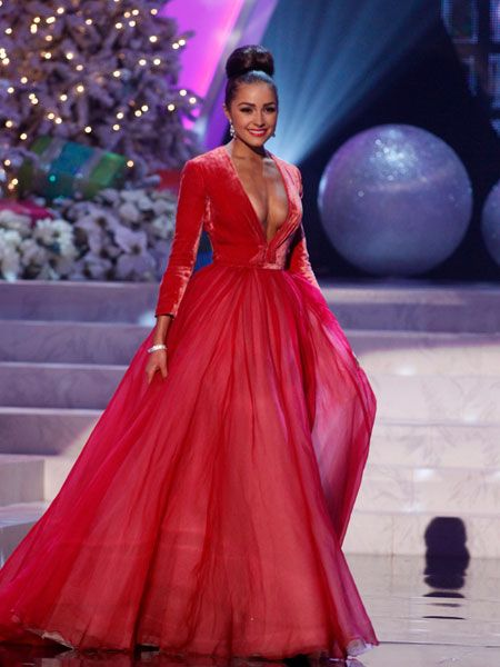 Olivia Culpo Miss Universe Evening Gown Images, High-Quality Pictures - Imagepo.com