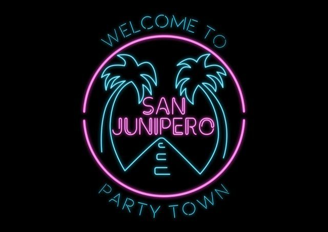 Welcome To San Junipero Black Mirror T Shirt The Shirt List Iphone Wallpaper Vaporwave Neon Wallpaper Black Mirror