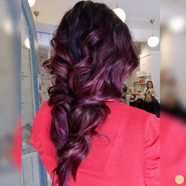Plum aubergine braid