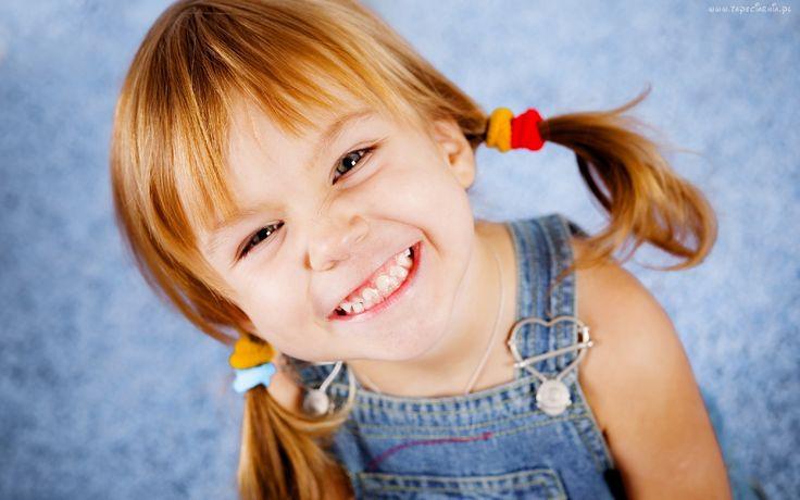 Dziewczynka, Uśmiech, Kucyki