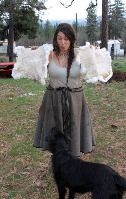 Tanning Rabbit Hides With Salt and Alum
