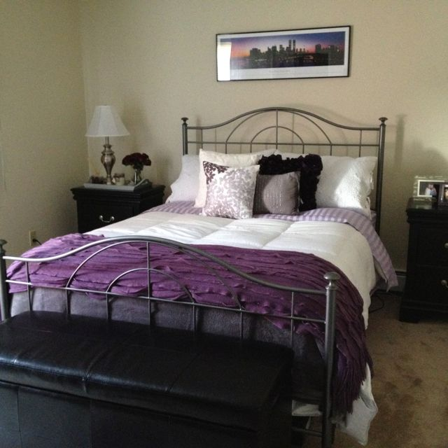 1000 images about purple grey bedroom on pinterest rustic headboards wooden headboards and. Black Bedroom Furniture Sets. Home Design Ideas