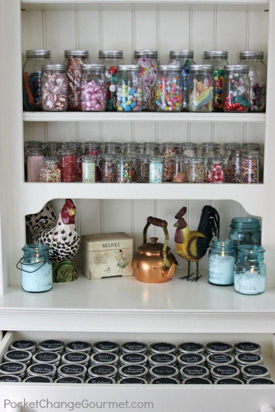 343 Best Images About Kitchen Spice Storage On Pinterest