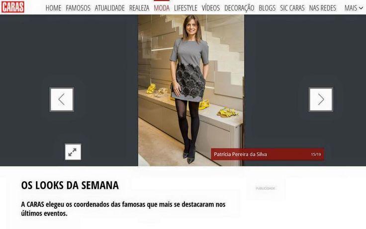 Patrícia Pereira da Silva eleita pela revista Caras uma das figuras publicas mais bem vestidas da semana.   Vestido She by Micaela Oliveira, disponível na sua loja She.  #shebymicaelaoliveira