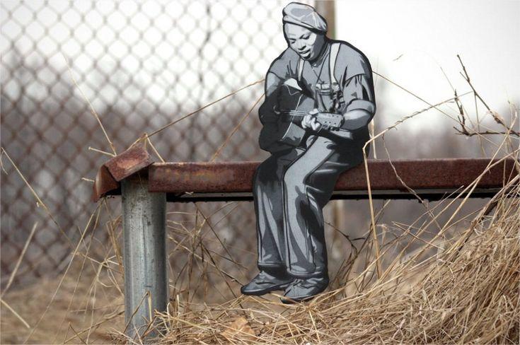 Street art nascosta: mini avventurieri abitano la città - di Joe Lurato.