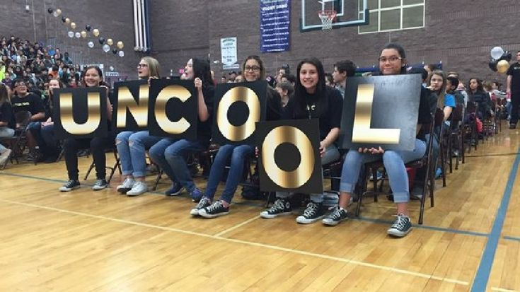 A Las Vegas valley junior high school wants to do something positive to end bullying and problems at their school. The campaign at Greenspun Junior High School in Henderson was unveiled with a catchy slogan.It's called: So uncool.Think of this way: 'So unc