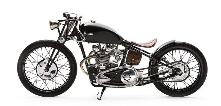Falcon motorcycles the bullet bobber 1950 triumph