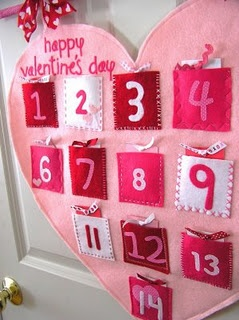 Valentine Countdown Calendar #Tutorial -- I want to make one, each card listing one of the top 14 things that I love most about her!