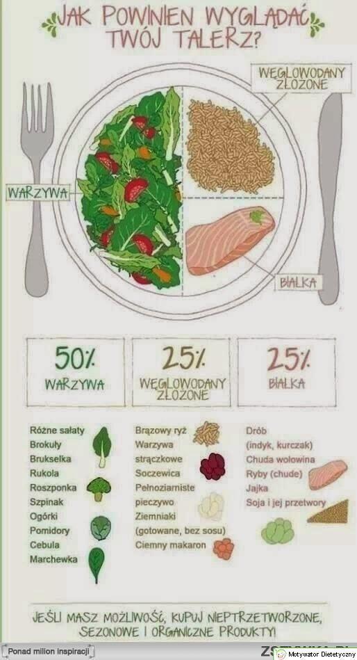 Jak powinien wyglądać twój talerz ? - Motywator Dietetyczny