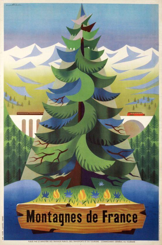 Jacques Nathan-Garamond (1910-2001) - Montagnes de France, 1955