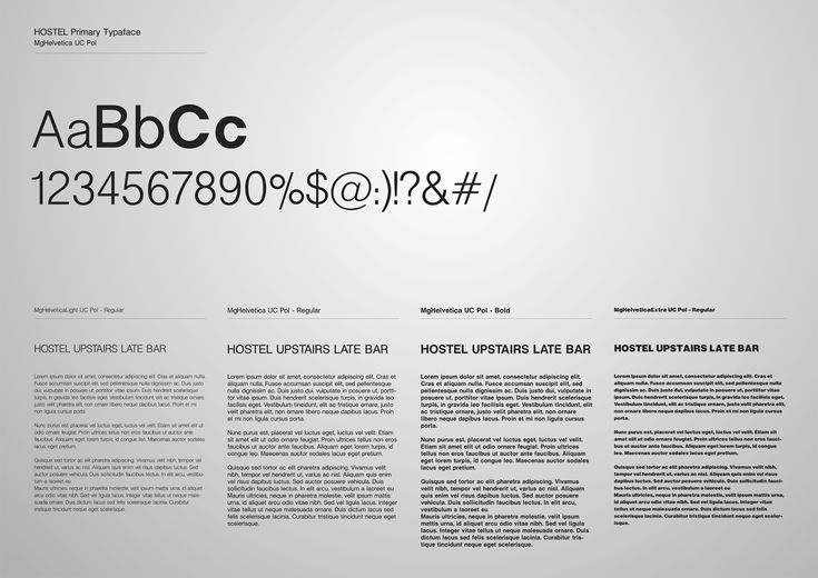 Corporate Identity Hostel_Upstairs_Late Bar_Primary Typeface_Yianart
